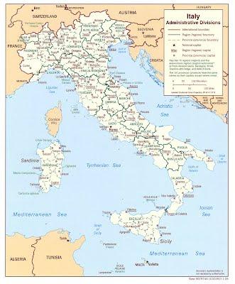 Administrativní mapa Itálie